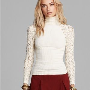 Free People lace long sleeve mock turtle neck